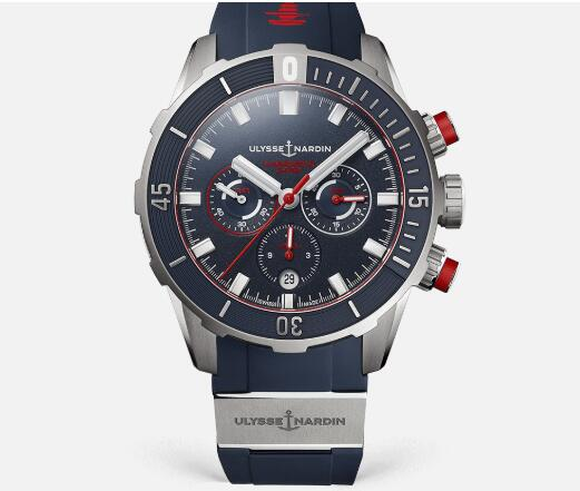 Ulysse Nardin Diver Chronograph 44mm Replica Watch Price 1503-170LE-3/93-HAMMER