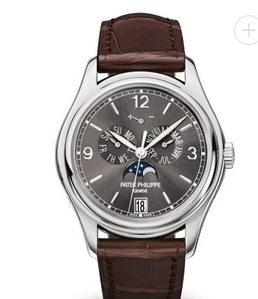 Cheapest Patek Philippe Watch Price Replica Complications Moon Phase Gray Dial Watch 5146G-010