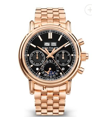 Cheapest Patek Philippe Watch Price Replica Grand Complications Chronograph Black Dial 5204/1R-001