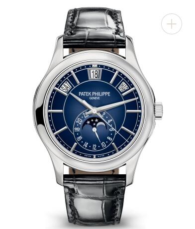 Cheapest Patek Philippe Watch Price Replica Complications Moon Phase White Gold Watch 5205G-013