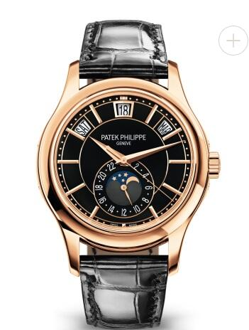 Cheapest Patek Philippe Watch Price Replica Complications Automatic Black Dial Watch 5205R-010