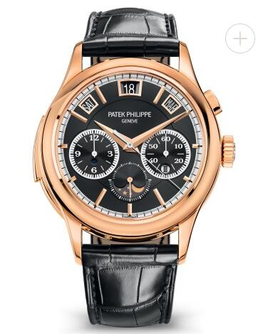 Cheapest Patek Philippe Watch Price Replica Grand Complications Black Dial Rose Gold 5208R-001