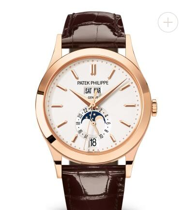 Cheapest Patek Philippe Watch Price Replica Complications Rose Gold Silver Dial Watch 5396R-011