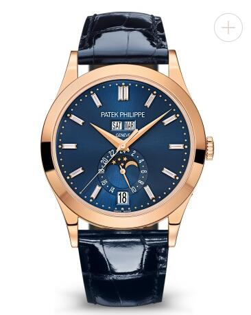 Cheapest Patek Philippe Watch Price Replica Complications Rose Gold Diamond & Blue Dial 5396R-015