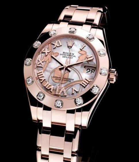Replica Rolex Watches for Women Watch Rolex Datejust Special Edition Oyster Perpetual 81315-72845 Everose Gold - White Mother-of-Pearl Dial