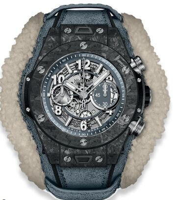 Hublot 411.QK.7170.VR.ALP18 Big Bang Unico Frosted Carbon 45mm Replica watch