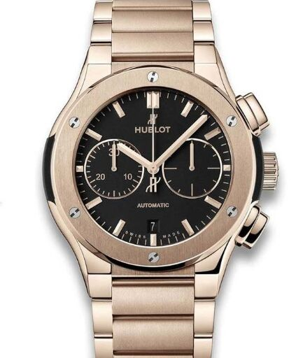 Replica Hublot 520.OX.1180.OX Classic Fusion Chronograph King Gold Bracelet watch