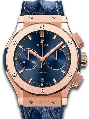 Replica Hublot 521.OX.7180.LR Classic Fusion Blue Chronograph King Gold 45mm watch