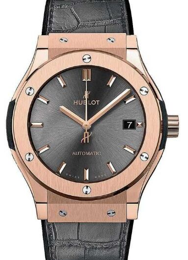 Replica Hublot 565.OX.7081.LR Classic Fusion King Gold Racing Grey 38mm watch