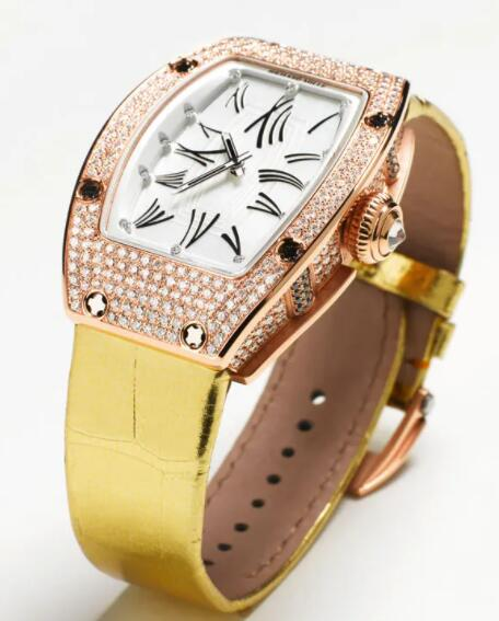 RICHARD MILLE RM 007 Rose Gold Diamonds White Dial Replica Watch