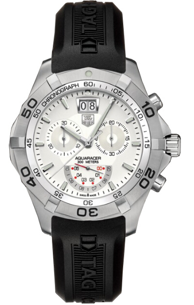 Replica Tag Heuer Watch Aquaracer Chronograph Grand-Date 43mm Steel For Men CAF101B.FT8011