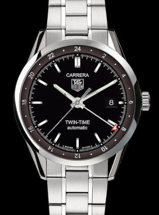 Replica Tag Heuer Watch CARRERA CALIBRE 7 TWIN TIME AUTOMATIC WV2115.BA0787